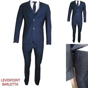 finest selection da489 2e4bf Dettagli su Abito Uomo Slim Fit Vestito Cerimonia Completo Elegante Estivo  Blu Casual Nuovo