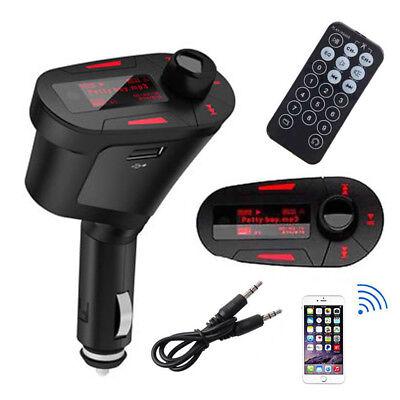 Wireless FM Transmitter Modulator Car Kit MP3 Player SD USB Charger LED Remote