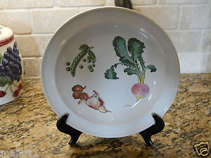 "Wedgwood China Gourmet 10 3/4"" Dinner Plate Vegetables Croft Shape"