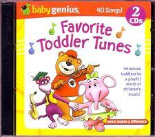 Baby Genius FAVORITE TODDLER TUNES 2CD Classic Childrens MUFFIN MAN KOOKABURRA