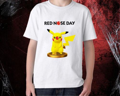 Red Nose Day Pikachu COMIC RELIEF KIDS BOYS MEN WOMEN T-SHIRT
