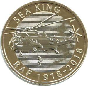 2018 Monnaie Royale British Royal Air Force Sea King £ 2 Deux Pound Coin Universel-afficher Le Titre D'origine