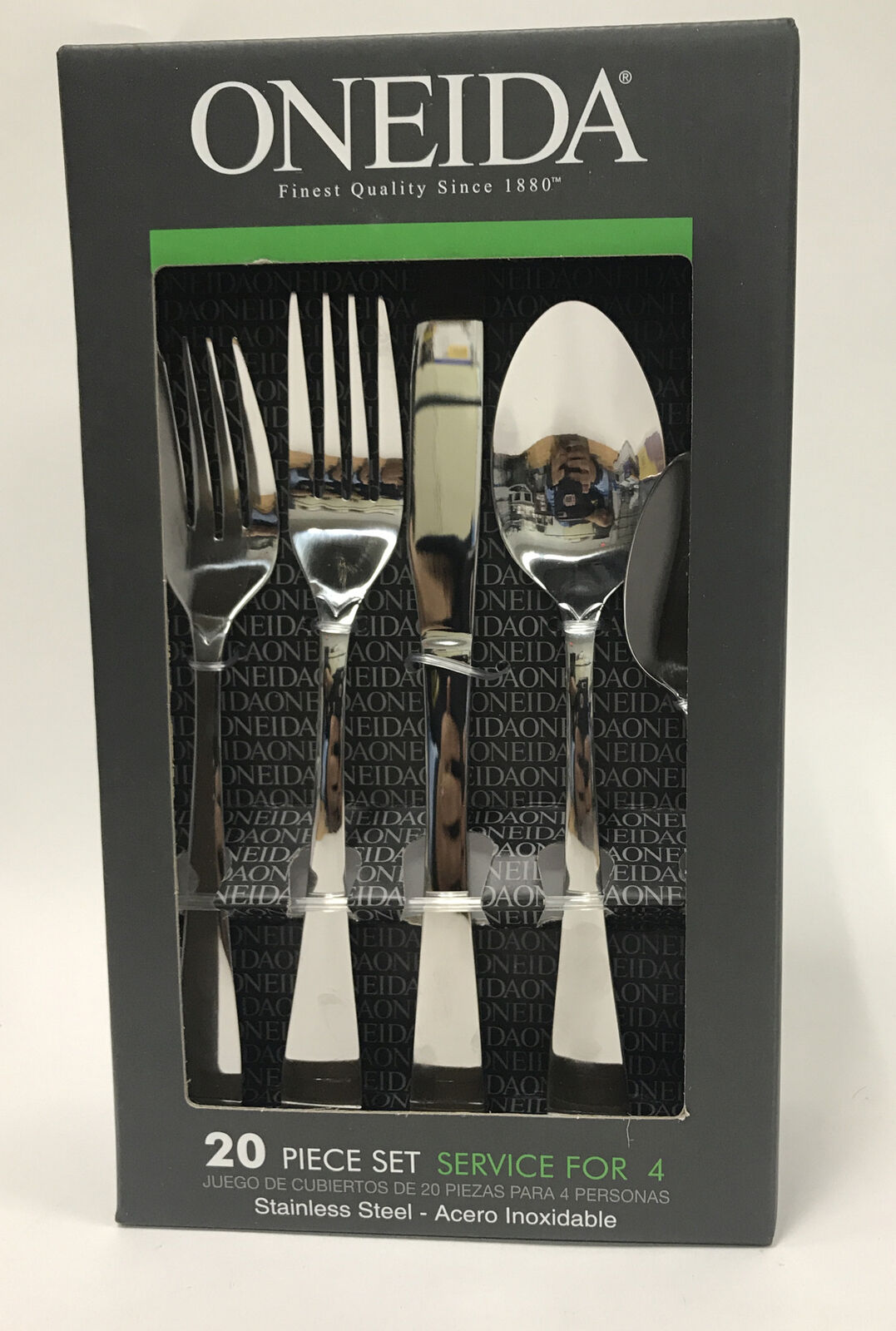 Oneida Juilliard 20 Piece Stainless Flatware Set Service For 4 With Bamboo For Sale Online Ebay