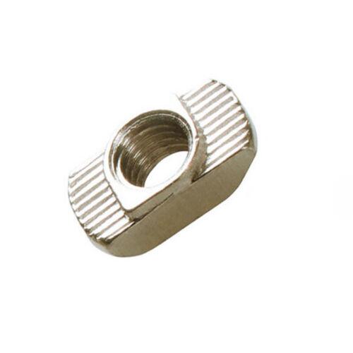 50tlg  M3//M5 EU Aluminium Profil Nutenstein T-Slot Gleitmutter Block silber
