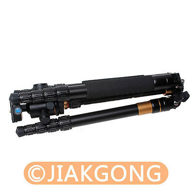 Portable Magnesium Aluminium Monopod Q-666 Tripod+ QZSD-02 Ball Head+Pocket