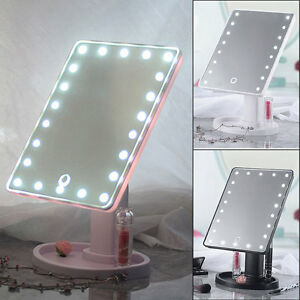 20 led lights vanity makeup mirror touch screen lighted tabletop