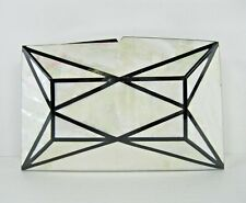 Vintage Black and White Checkerboard Mother of Pearl Shell Inlaid Clutch