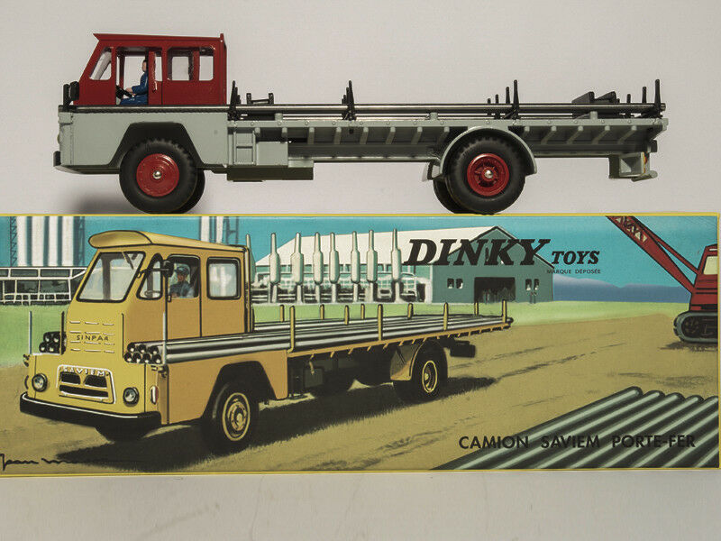 1 43 Atlas Dinky Toys 885 CAMION SAVIEM S7 PORTE-FER DIECAST CAR MODEL TOY GIFT