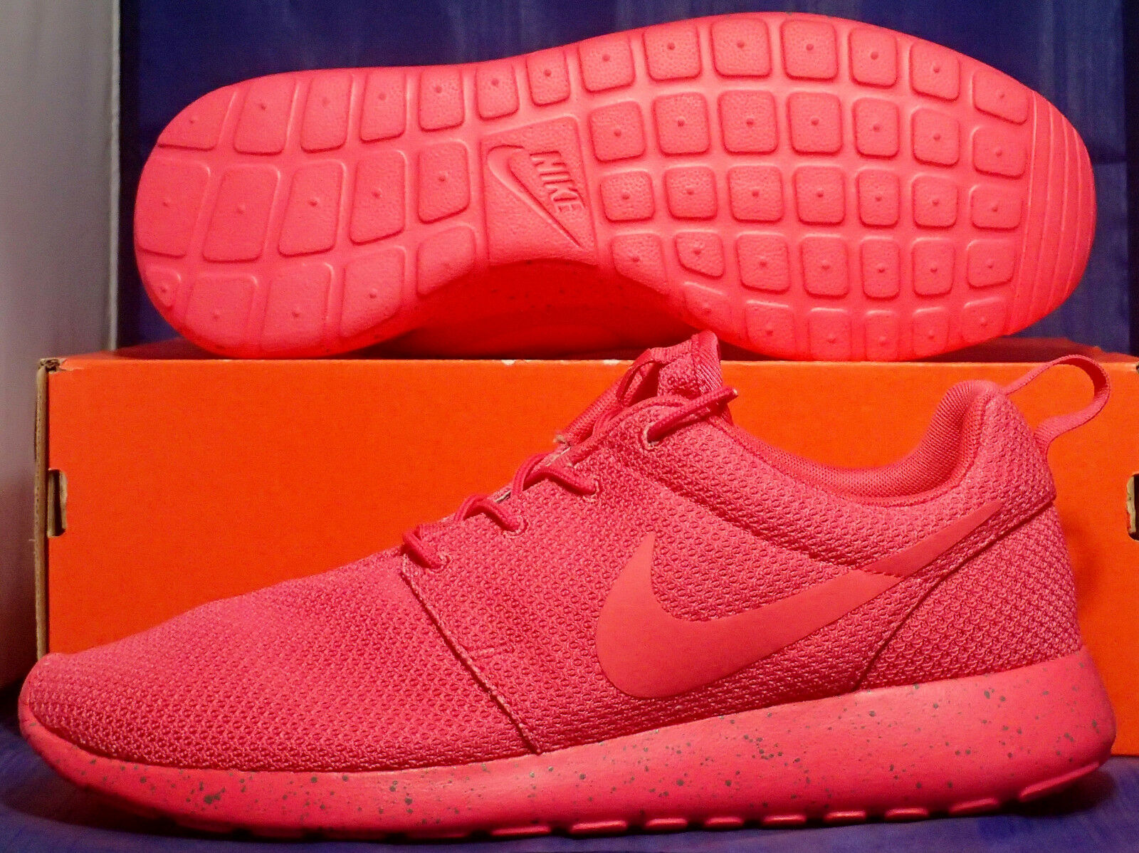 Nike Rosherun iD Red October Grey SZ 10 ( 616834-993 )