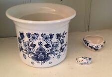 Westraven Anno 1661 Delfts Porcelain Pot/ Heart Locket/Dutch Shoe Blue Delfts