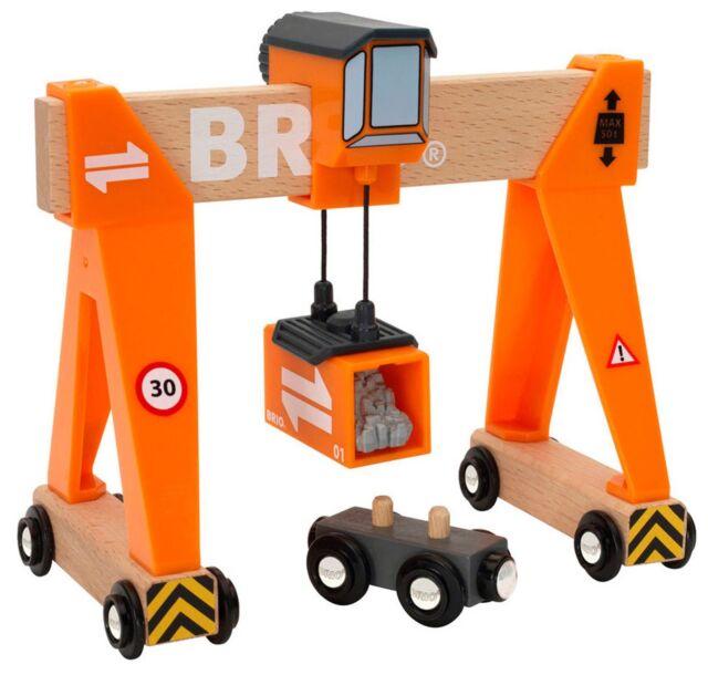 Brio GANTRY CRANE Wooden Toy Train BN