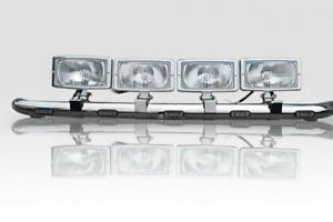 Details about To Fit Iveco Eurocargo Stainless Steel Roof Light Bar A +  Spot Lamps + LEDs x5