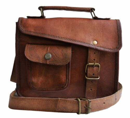 Mens genuine leather small I pad Tablet case satchel shoulder passport man bag