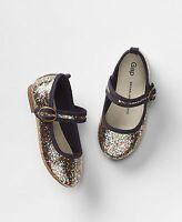 Baby Gap Girl's Rainbow Glitter Mary Jane Ballet Flat Shoes Size 6
