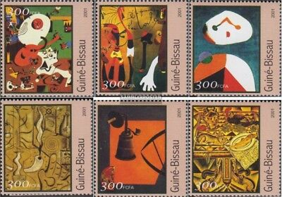 Art Topical Stamps Guinea-bissau 1606-1611 Postfrisch 2001 Gemälde Fixing Prices According To Quality Of Products