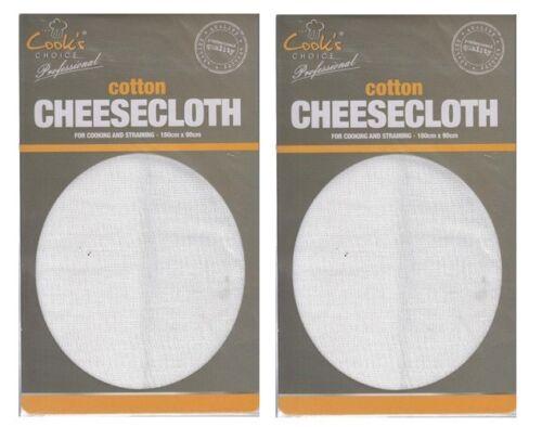 STRAIN STRAINING STEAMING CHEESE MAKING 2 x Muslin Cheese Cloth 180cm x 90cm