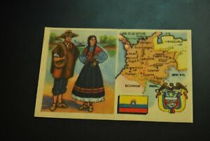 Vintage-Cigarettes-Card-COLOMBIA-REGIONS-OF-THE-WORLD-COLLECTION-Rare