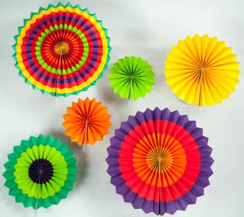 Fiesta Paper Flower Pinwheel Backdrop Party Wall Decoration Combo Kit