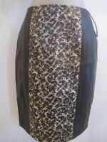 Yvonne Marie For Revue Faux Leather & Snake Skin A-line Pencil Skirt