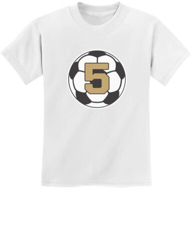5 Year old Fifth Birthday Gift  Soccer Youth Kids T-Shirt Five year old