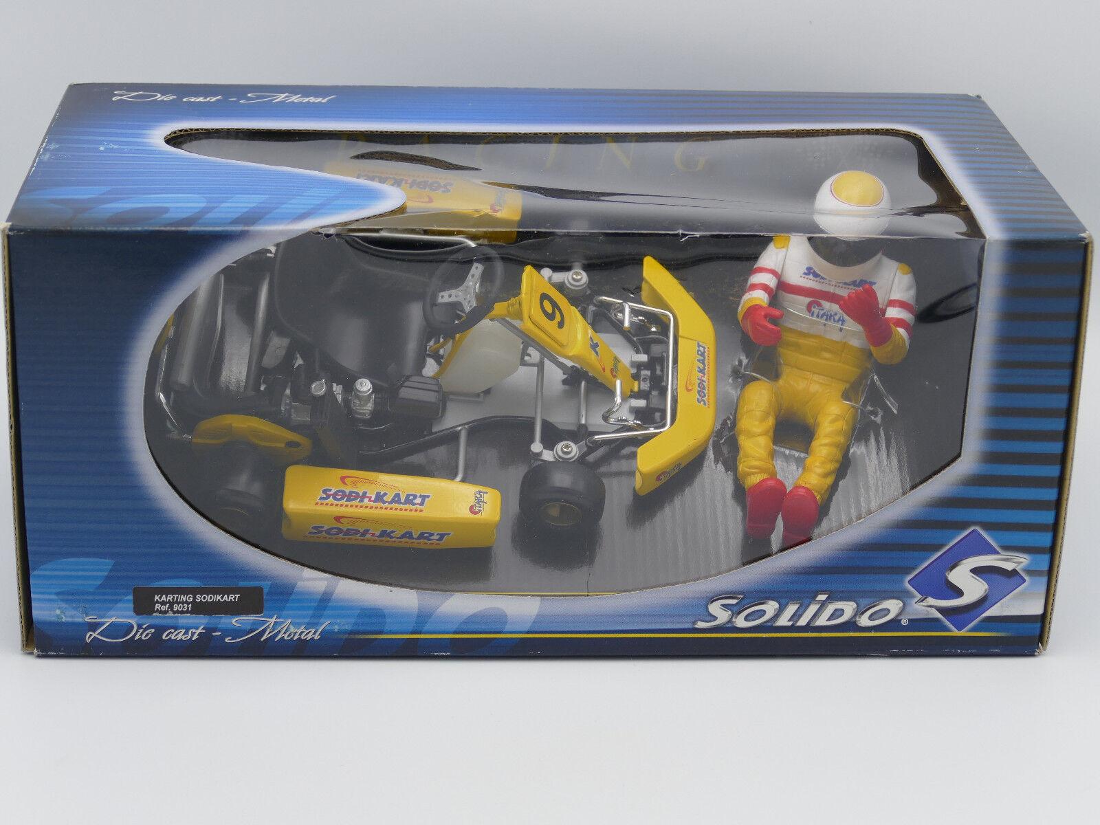1 10 Solido Kart Sodi Kart+Driver Figure giallo