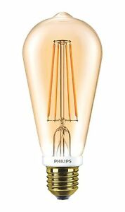 Philips-LED-Tipo-57571000-ST64-7W-720-Lumen-15-000-h-A-oro-2500-K