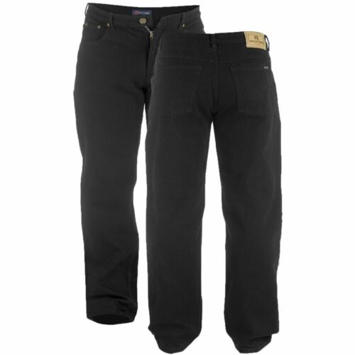 Denim Grande Misura Adulto Comodi Duke Rockford Uomo Jeans Pantaloni King Nero YSBtqw
