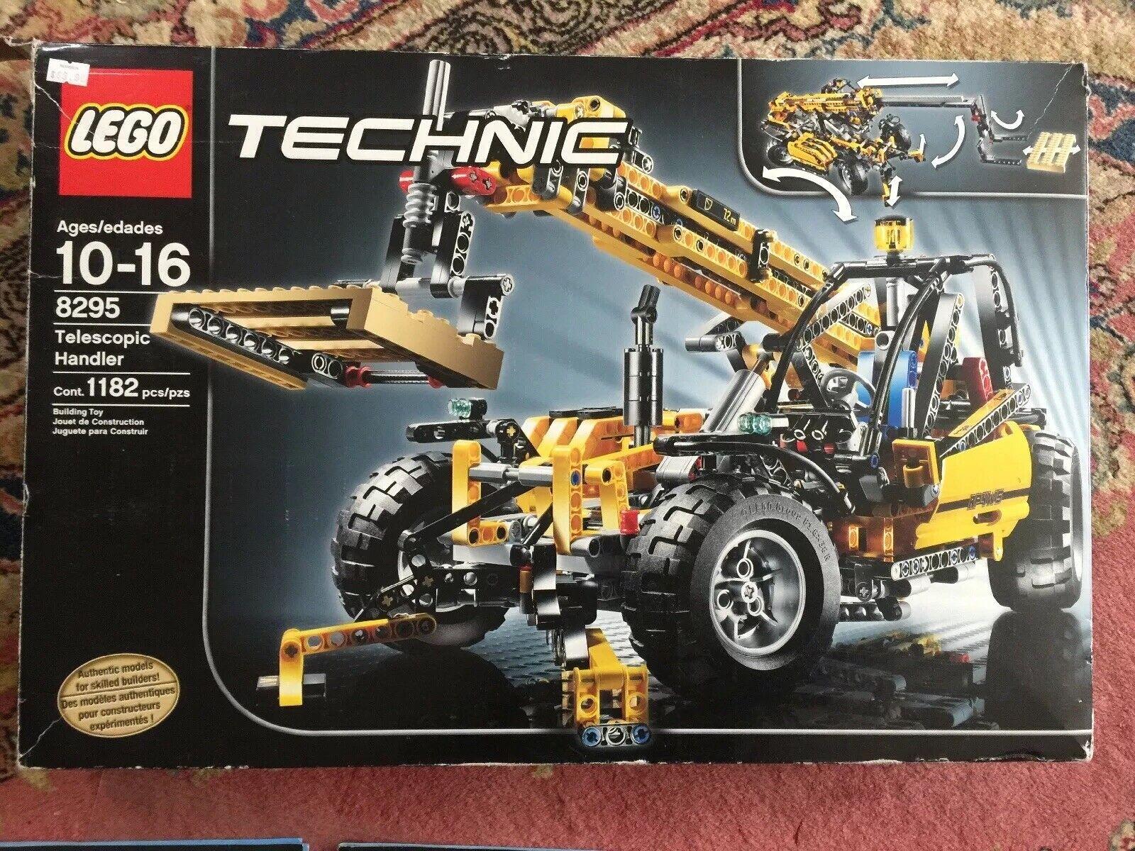 Lego Technic 8295 Pegatinas de administrador de material de construcción telescópica completa en