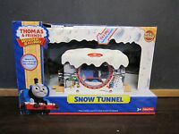 Thomas The Train Wooden Railway Moves Sodor Snow Tunnel Winter Ice Christmas