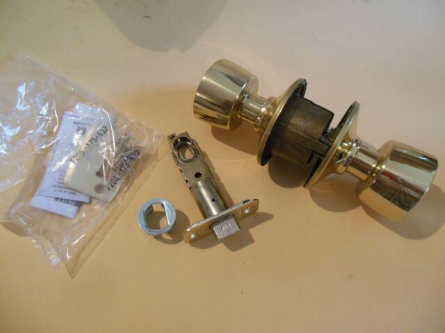 Schlage F10BEL605 Bell Passage Door Knob Set Polished Brass