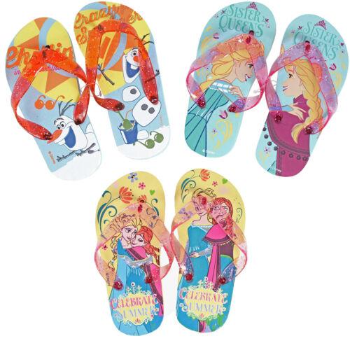 anna olaf tailles 6-7 8-9 10-11 12-13 Tongs pour enfants-Disney Frozen Elsa