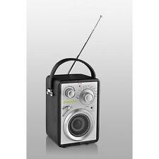 Original Bergmann popcube travel schwarz UKW MW Sound Dock Box Retro Design