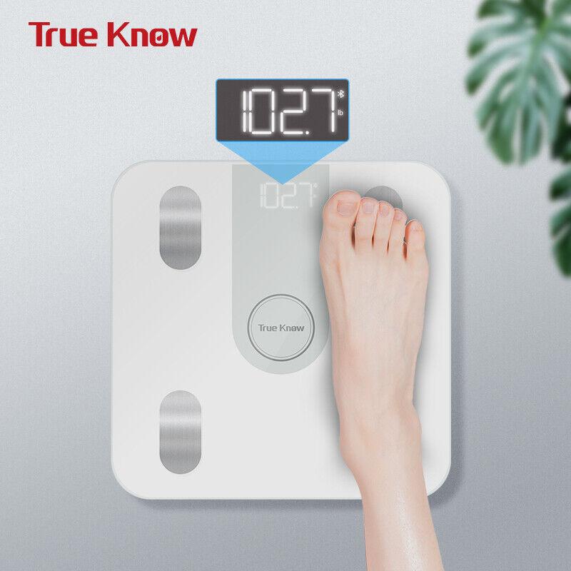 TRUE KNOW Báscula de baño de control de peso de escala de...