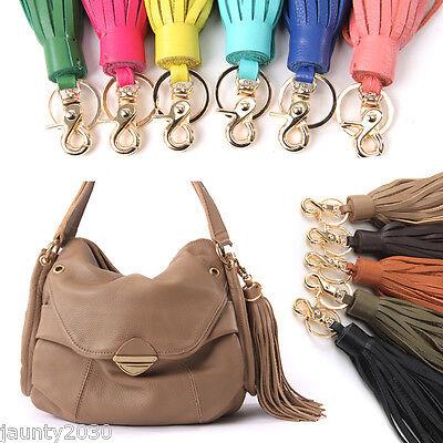 New Womens Genuine Leather Women's Handbag Accessories TASSEL CHARM [A001]