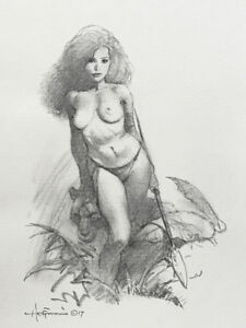 MIKE-HOFFMAN-COMMISSION-NUDE-PENCIL-DRAWING-You-Choose-the-Subject