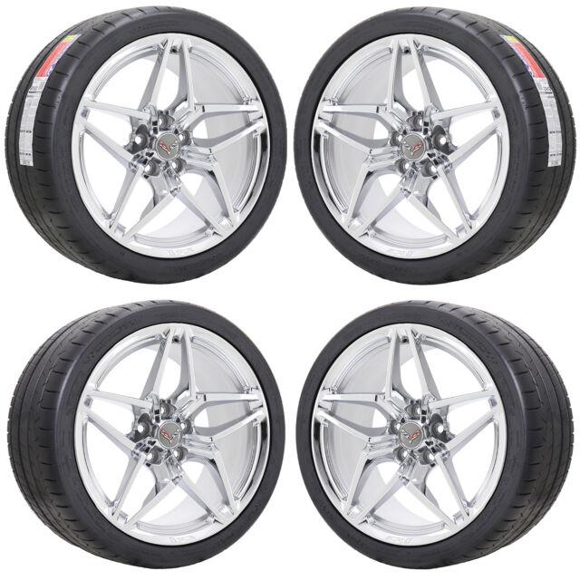 19x10 5 20x12 Corvette Zr1 Chrome Wheels Rims Tires Factory Oem 2019 Set 19zr1