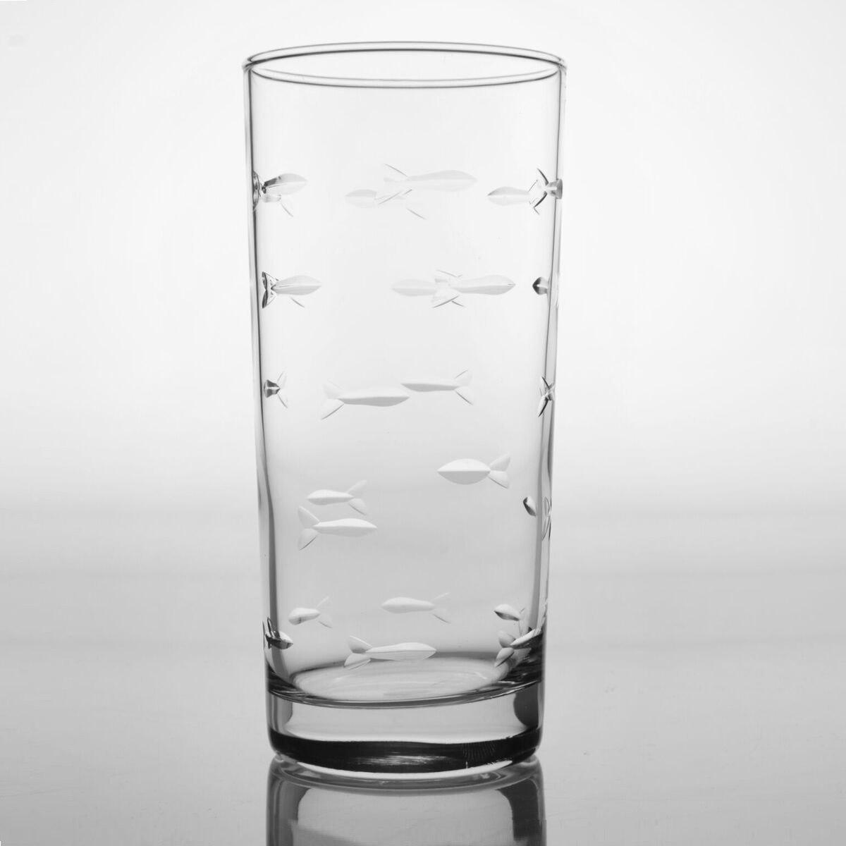Fish Iced Tea Glasses Set of 4   ROL600017   Rolf Glass