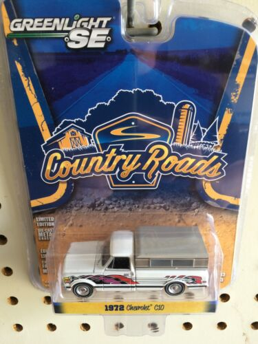 Greenlight COUNTRY ROADS 1972 Chevrolet C-10 Pickup w/ Cap.  White