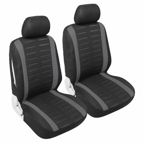 atrás KFZ ya-referencia cubierta de asiento negro Auto fundas para asientos set para delante gris