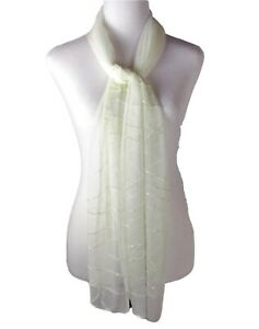 Bridal-Scarf-Beaded-Wrap-Bride-Head-Hair-Piece-Cream-Off-White-Australia