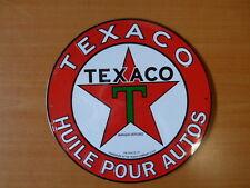 PLAQUES PUBLICITAIRE tolée L'age d'or de l'Automobile : TEXACO 21 cm n°48