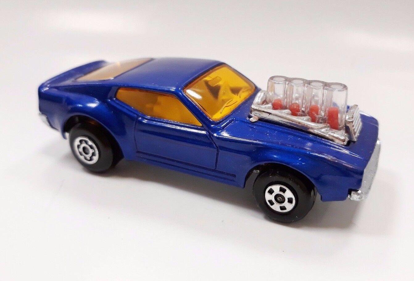 Rola-matics Coche De Juguete Matchbox Superfast Dragster 1973 Mustang Piston Popper