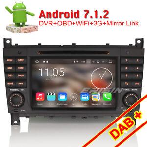Android-7-1-Autoradio-Mercedes-Benz-C-CLK-CLC-Klasse-W203-W209-C200-CLK320-DAB