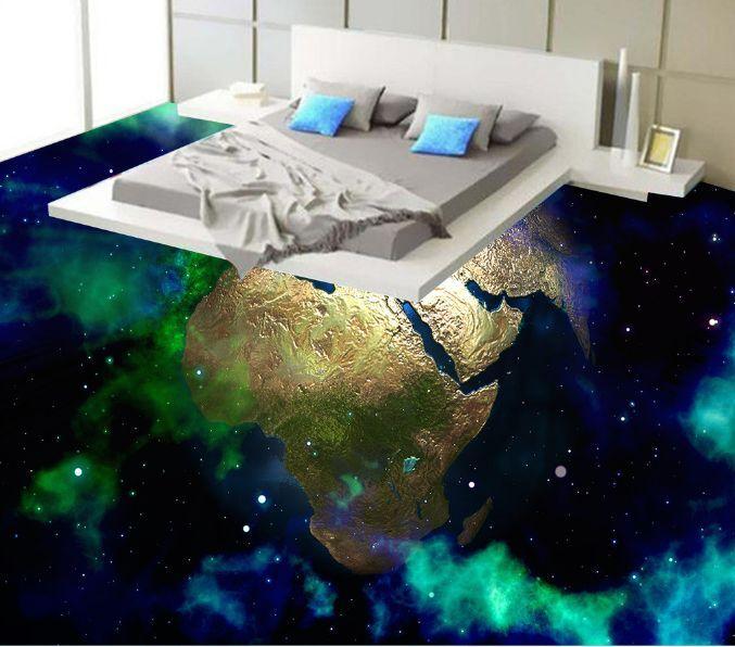 Planeta TIERRA MUNDO 3D 18 Papel Pintado Mural Parojo Calcomanía de impresión de piso 5D AJ Wallpaper