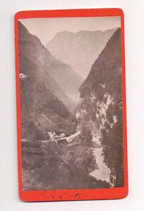 Vintage-CDV-Pass-Lueg-near-salzburg-Austria-Narrow-Mountain-pass