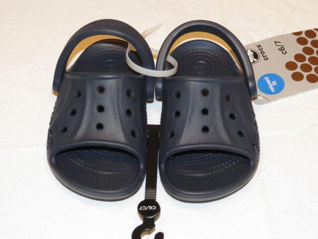 0526b57f575 Crocs Baya Slide Kids Child Relaxed Fit Sandal Shoe Navy Blue C 6 7 ...