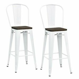 Outstanding Details About Dhp Luxor 30 Metal Bar Stool In White Set Of 2 Gmtry Best Dining Table And Chair Ideas Images Gmtryco