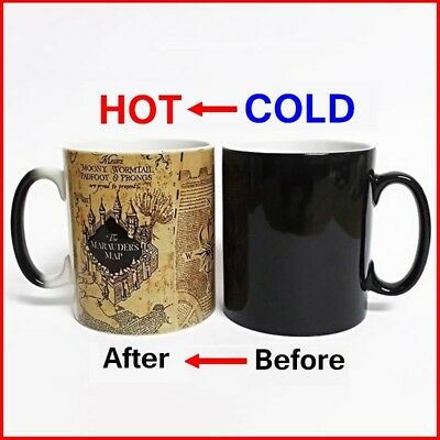 Universal Studios Harry Potter Marauder/'s Map Heat Reactive Coffee Mug New
