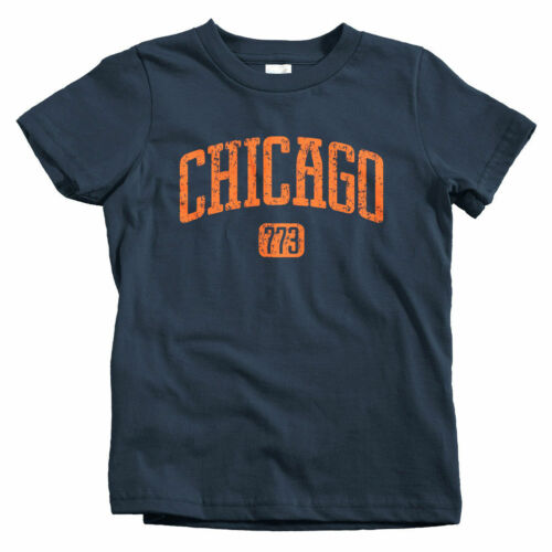 Baby Toddler Youth Tee Cubs Gift Bulls Bears Fire Chicago 773 Kids T-shirt