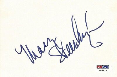 Mary Steenburgen Signed Index Card Psa/dna Coa Autograph Melvin And Howard Elf Autographs-original